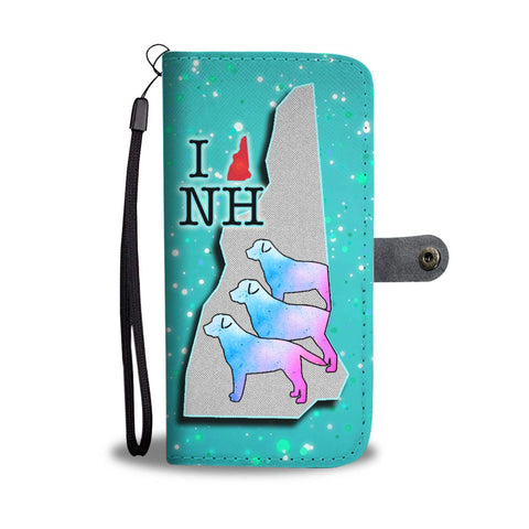 Labrador Retriever Art Print Wallet Case-Free Shipping-NH State