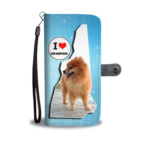 Lovely Pomeranian Dog Print Wallet Case-Free Shipping-NH State