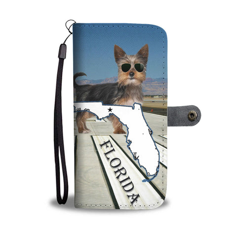 Cute Yorkie Print Wallet Case-Free Shipping-FL State