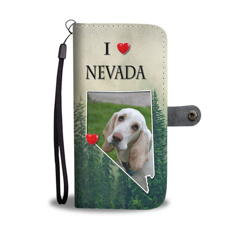 Lovely Basset Hound Print Wallet Case-Free Shipping-NV State