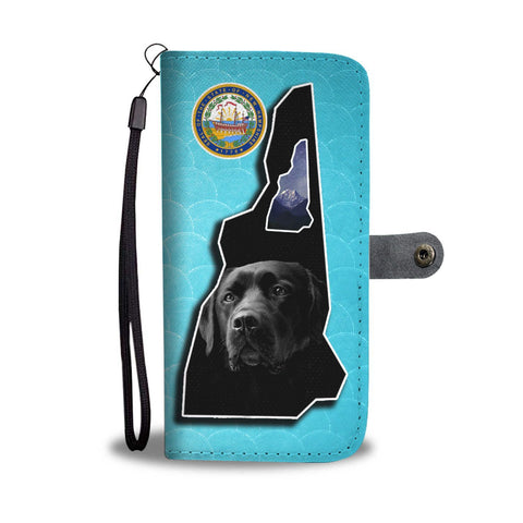 Black Labrador Print Limited Edition Wallet Case-Free Shipping-NH State