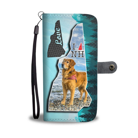 Golden Retriever Art Print Wallet Case-Free Shipping-NH State