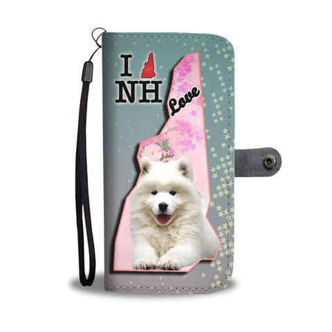 Lovely Samoyed Dog Print Wallet Case-Free Shipping-NH State