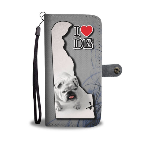 Cute Bulldog Puppy Print Wallet Case-Free Shipping-DE State