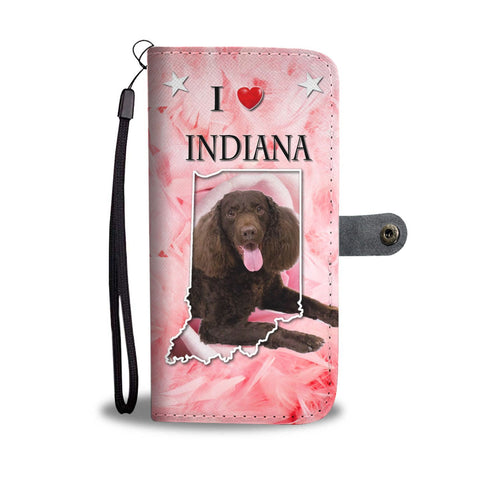 American Water Spaniel Print Wallet Case-Free Shipping-IN State