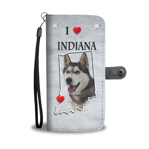 Siberian Husky Print Wallet Case- Free Shipping-IN State