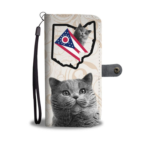 British Shorthair Cat Print Wallet Case-Free Shipping-OH State