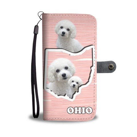 Cute Bichon Frise Print Wallet Case-Free Shipping-OH State