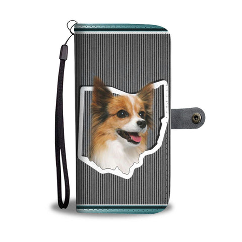 Papillon Dog Print Wallet Case-Free Shipping-OH State
