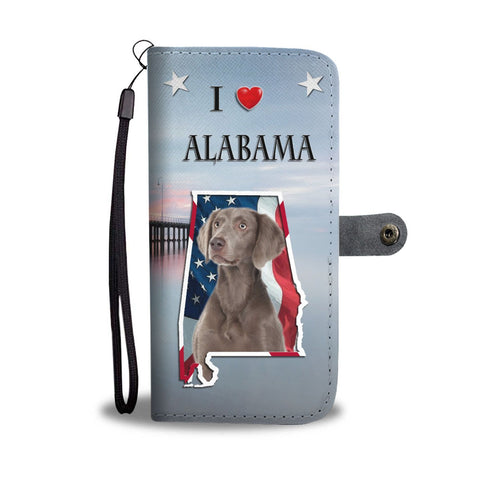 Cute Weimaraner Dog Print Wallet Case-Free Shipping-AL State