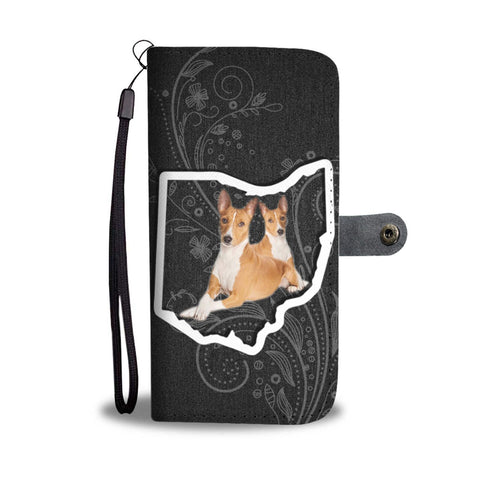 Basenji Dog Print Wallet Case-Free Shipping-OH State