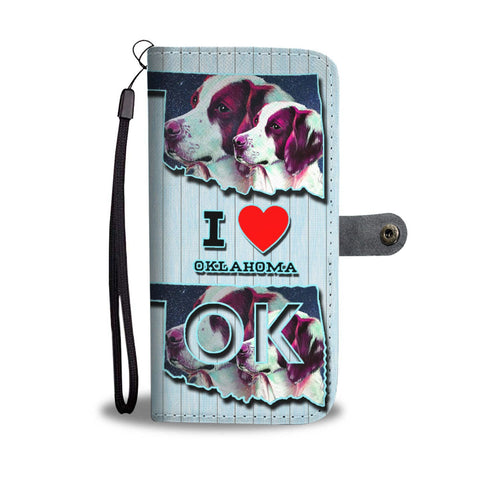Brittany Dog Art Print Wallet Case-Free Shipping-OK State