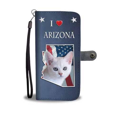 Cute Burmilla Cat Print Wallet Case-Free Shipping-AZ State