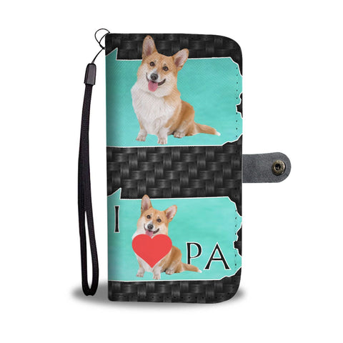 Cardigan Welsh Corgi Dog Print Wallet Case-Free Shipping-PA State