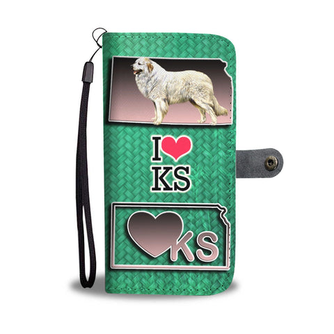 Great Pyrenees Dog Art Print Wallet Case-Free Shipping-KS State