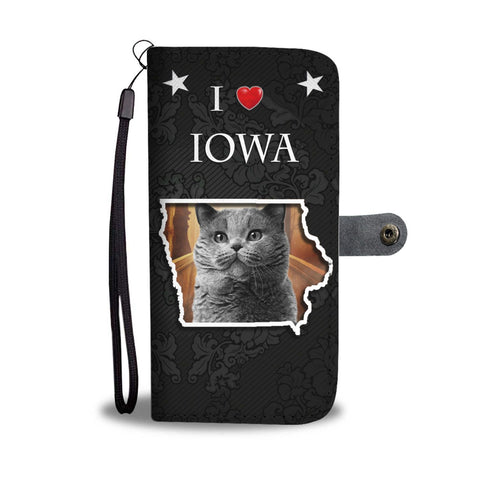 British Shorthair Cat Print Wallet Case-Free Shipping-IA State