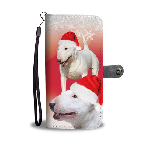 Bull Terrier Christmas Print Wallet Case-Free Shipping