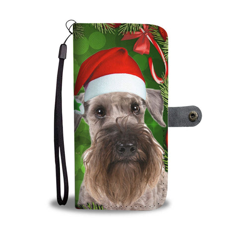Cesky Terrier On Christmas Print Wallet Case-Free Shipping