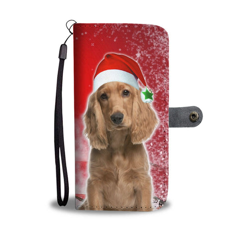 Cocker Spaniel On Christmas Print Wallet Case-Free Shipping