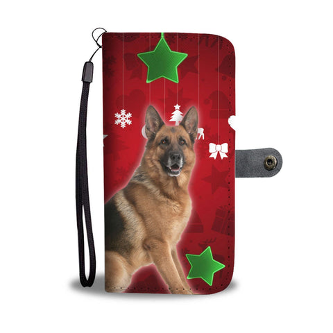 German Shepherd On Christmas Print Wallet Case-Free Shipping