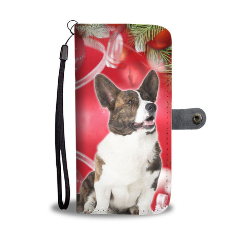 Cardigan Welsh Corgi On Christmas Print Wallet Case-Free Shipping