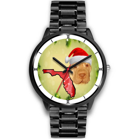 Cute Shar Pei Print On Christmas Wrist Watch-Free Shipping-FL State