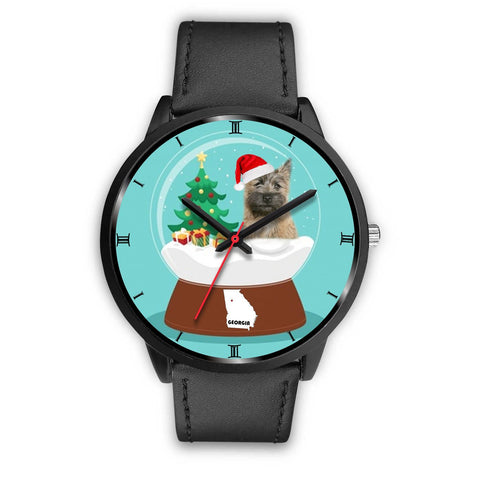 Cairn Terrier Georgia Christmas Special Wrist Watch-Free Shipping