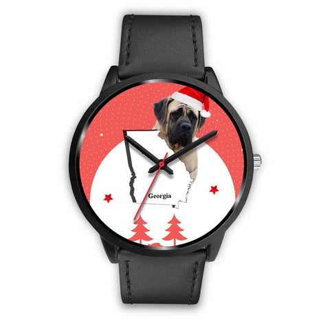 English Mastiff Dog Georgia Christmas Special Wrist Watch-Free Shipping