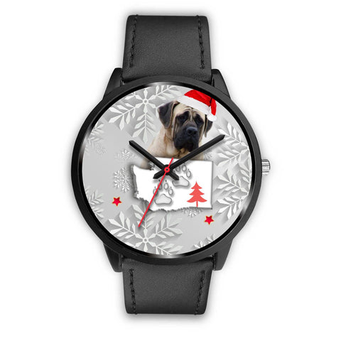 English Mastiff Dog Washington Christmas Special Wrist Watch-Free Shipping
