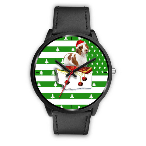 Brittany Dog Washington Christmas Special Wrist Watch-Free Shipping