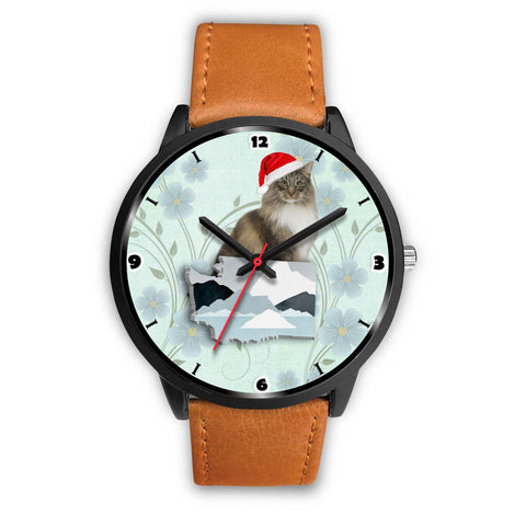 Norwegian Forest Cat Washington Christmas Special Wrist Watch-Free Shipping