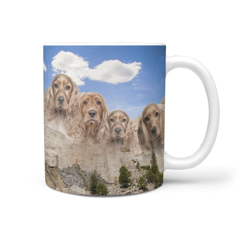 Cocker Spaniel Mount Rushmore Print 360 Mug