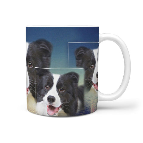 Cute Border Collie Print 360 White Mug