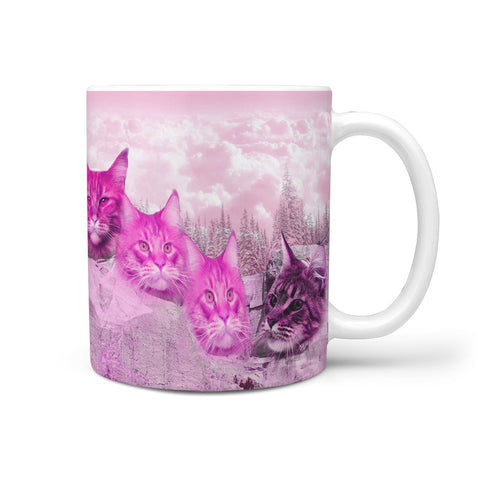 Maine Coon Cat Art Mount Rushmore Print 360 Mug