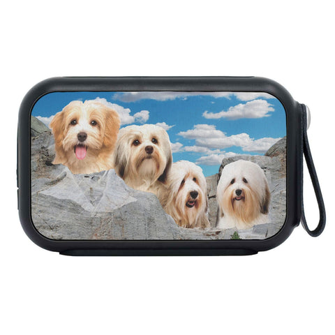 Havanese Dog On Mount Rushmore Print Bluetooth Speaker