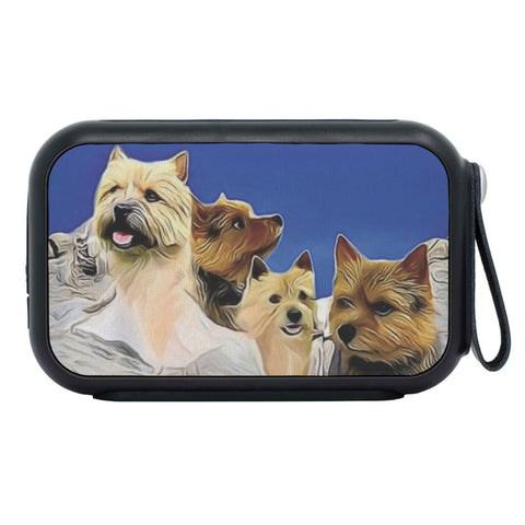 Norwich Terrier Mount Rushmore Print Bluetooth Speaker