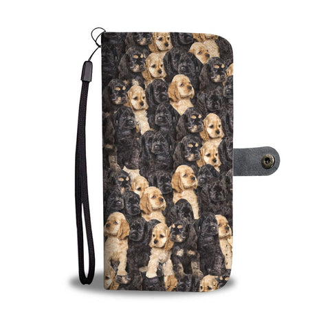 Cocker Spaniel In Lots Print Wallet Case-Free Shipping