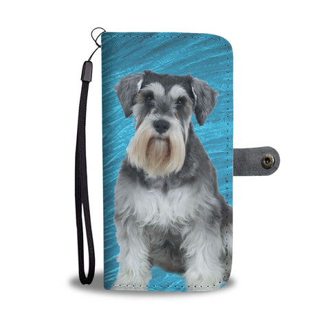 Miniature Schnauzer Print Wallet Case-Free Shipping