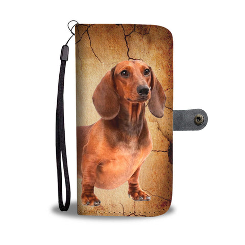 Dachshund Print Wallet Case- Free Shipping