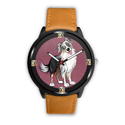 Australian Shepherd Art Print Wrist watch - Free Shipping