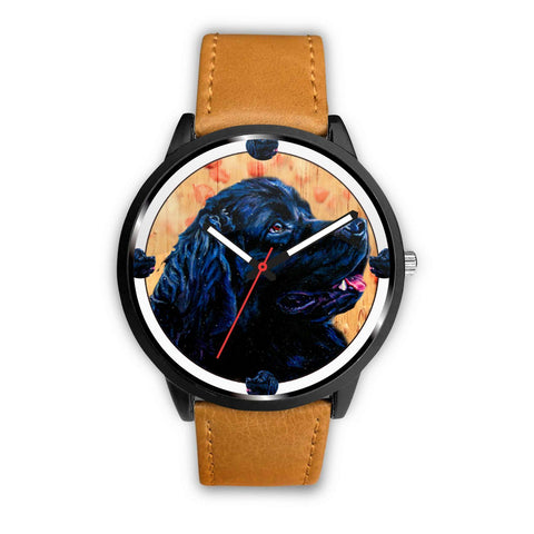 Newfoundland Dog Art Print Wrist watch - Free Shipping