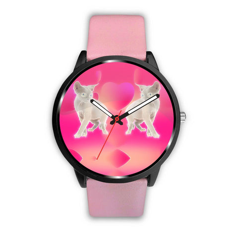 Amazing Devon Rex Cat Print Wrist Watch-Free Shipping