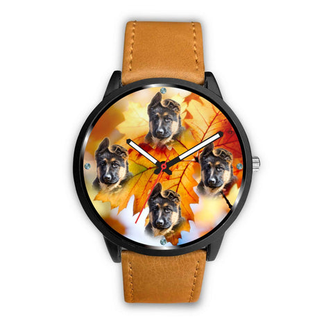 Lovely German Shepherd Puppy Print Wrist Watch- Free Shipping
