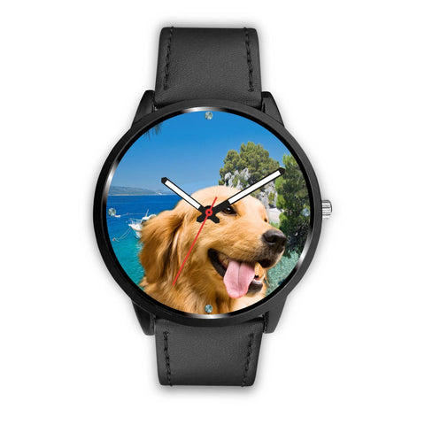 Cute Golden Retriever Print Wrist Watch- Free Shipping