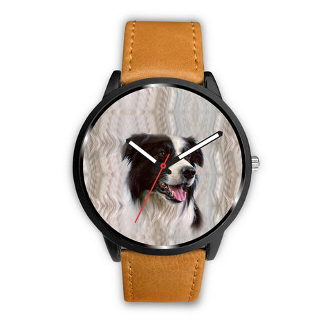 Border Collie Dog Print Wrist Watch-Free Shipping