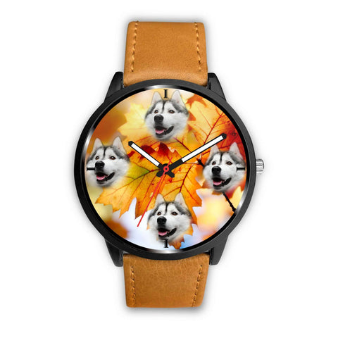 Lovely Siberian Husky Print Wrist Watch- Free Shipping