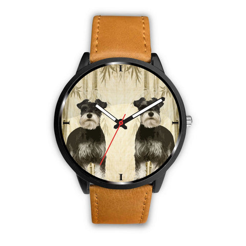 Miniature Schnauzer Print Wrist Watch - Free Shipping
