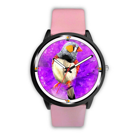 Zebra Finch Bird Print Wrist Watch - Free Shipping