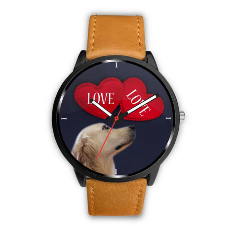 Golden Retriever with Love Print Wrist Watch-Free Shipping