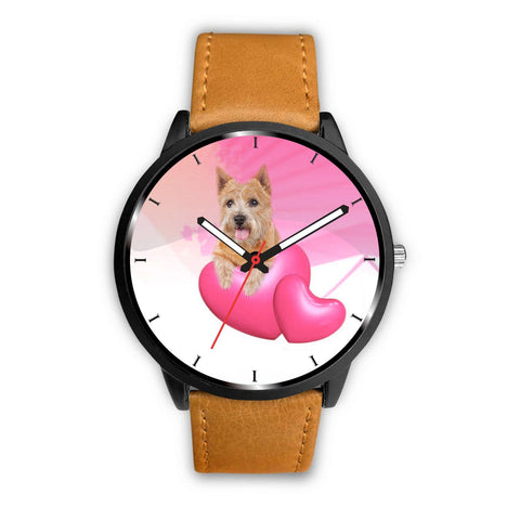 Cute Norwich Terrier with Love Print Wrist Watch-Free Shipping
